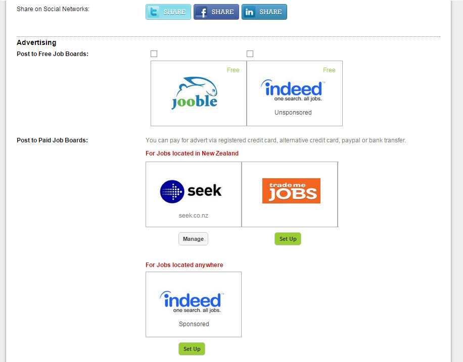 Online Recruitment Management Software - Promote Job Vacancies