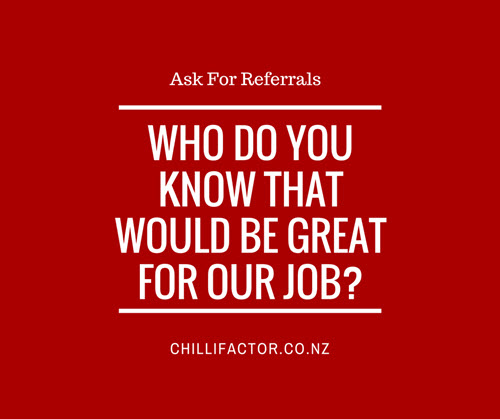 Find Talent - Ask for referrals
